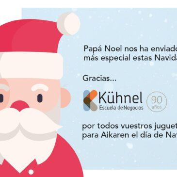 Kühnel Escuela de Negocios: el paje más especial de Papá Noel para Ainkaren estas Navidades